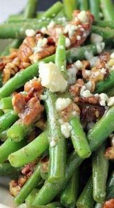 Pecan, Bacon and Blue Cheese Green - 195 Green Bean Recipes - RecipePin.com