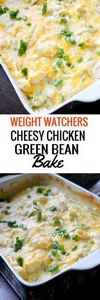 Cheesy Chicken Green Bean Bake - 195 Green Bean Recipes - RecipePin.com