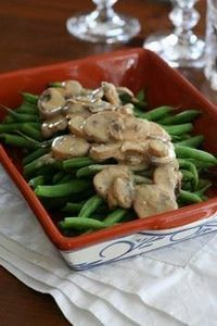 Green Beans with Creamy Mushroom S - 195 Green Bean Recipes - RecipePin.com