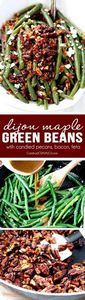 Dijon Maple Green Beans with Caram - 195 Green Bean Recipes - RecipePin.com