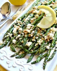 Roasted Garlic Asparagus with Feta - 195 Green Bean Recipes - RecipePin.com