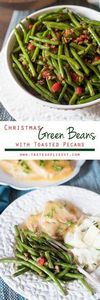Christmas green beans are dressed  - 195 Green Bean Recipes - RecipePin.com