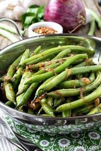 Mario Batali's Green Beans (Fagiol - 195 Green Bean Recipes - RecipePin.com