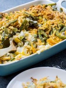 Mashed Potato Green Bean Casserole - 195 Green Bean Recipes - RecipePin.com