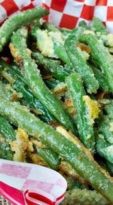 Oven Fried Garlic Parmesan Green B - 195 Green Bean Recipes - RecipePin.com