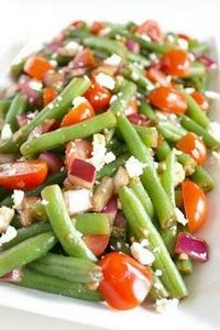 Balsamic Green Bean Salad.  Fresh  - 195 Green Bean Recipes - RecipePin.com
