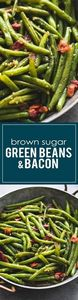 The BEST Brown Sugar Green Beans w - 195 Green Bean Recipes - RecipePin.com