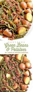 Southern Green Beans and Potatoes  - 195 Green Bean Recipes - RecipePin.com