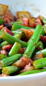 BACON & ONION GREEN BEANS RECI - 195 Green Bean Recipes - RecipePin.com