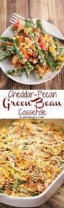 Cheddar-Pecan Green Bean Casserole - 195 Green Bean Recipes - RecipePin.com