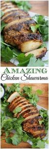 Amazing Chicken Shawarama ~ Chicke - 300 Healthy Dinner Recipes - RecipePin.com
