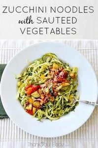 Zucchini noodles are healthy and d - 300 Healthy Dinner Recipes - RecipePin.com