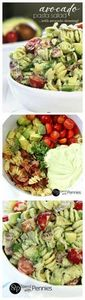 Avocado Pasta Salad - 300 Healthy Dinner Recipes - RecipePin.com