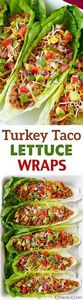 Turkey Taco Lettuce Wraps - these  - 300 Healthy Dinner Recipes - RecipePin.com
