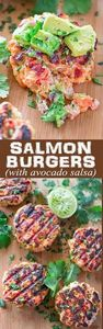 This tasty and easy Salmon Burger  - 300 Healthy Dinner Recipes - RecipePin.com