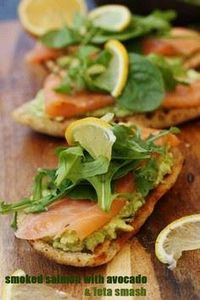 Smoked salmon bruschetta with smas - 300 Healthy Dinner Recipes - RecipePin.com