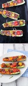 Zucchini Pizza Boats - A delicious - 300 Healthy Dinner Recipes - RecipePin.com