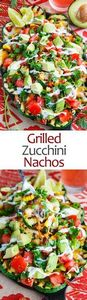 Grilled Zucchini Nachos - 300 Healthy Dinner Recipes - RecipePin.com
