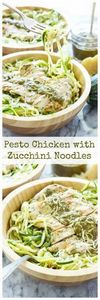 Pesto Zucchini Chicken with Zucchi - 300 Healthy Dinner Recipes - RecipePin.com