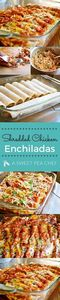 Shredded Chicken Enchiladas great  - 300 Healthy Dinner Recipes - RecipePin.com