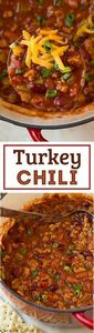 Turkey Chili - a lighter chili tha - 300 Healthy Dinner Recipes - RecipePin.com