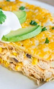 Southwestern Chicken Taco Pie - 300 Healthy Dinner Recipes - RecipePin.com