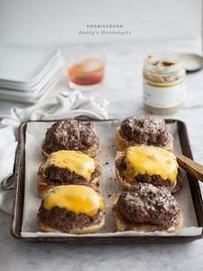 Daddy's Hamburgers are baked, not  - 300 Healthy Dinner Recipes - RecipePin.com