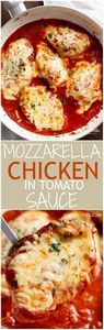A quick and easy Mozzarella Chicke - 300 Healthy Dinner Recipes - RecipePin.com