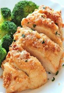 Baked Garlic Parmesan Chicken is o - 300 Healthy Dinner Recipes - RecipePin.com