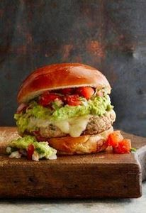 Guacamole Turkey Burgers loaded wi - 300 Healthy Dinner Recipes - RecipePin.com