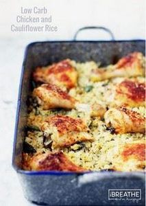 LOW CARB BAKED CHICKEN AND CAULIFL - 300 Healthy Dinner Recipes - RecipePin.com