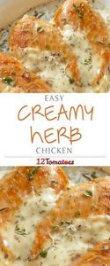 Creamy Herb Chicken: This creamy,  - 300 Healthy Dinner Recipes - RecipePin.com