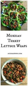 Mexican Turkey Lettuce Wraps are m - 300 Healthy Dinner Recipes - RecipePin.com