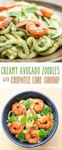 Creamy Avocado Zoodles with Chipot - 300 Healthy Dinner Recipes - RecipePin.com