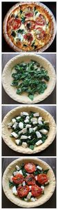 Roasted Tomato Spinach Mozzarella  - 300 Healthy Dinner Recipes - RecipePin.com