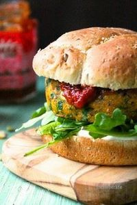 Curried Sweet Potato Burger with T - 300 Healthy Dinner Recipes - RecipePin.com