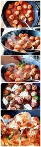 Turkey Meatballs in Spicy Tomato B - 300 Healthy Dinner Recipes - RecipePin.com