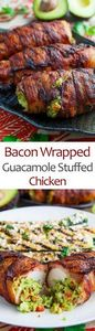 Bacon Wrapped Guacamole Stuffed Ch - 300 Healthy Dinner Recipes - RecipePin.com