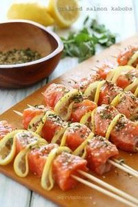 These lovely grilled salmon and le - 300 Healthy Dinner Recipes - RecipePin.com