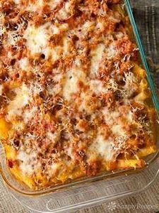 Baked Ziti! Classic Italian Americ - 300 Healthy Dinner Recipes - RecipePin.com