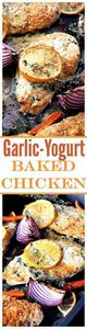 Garlic-Yogurt Baked Chicken: Flavo - 300 Healthy Dinner Recipes - RecipePin.com