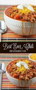 Best EVER chili! This is our favor - 300 Healthy Dinner Recipes - RecipePin.com