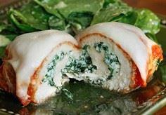 Chicken Rollatini with Spinach all - 300 Healthy Dinner Recipes - RecipePin.com