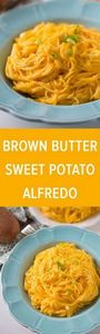 Brown Butter Sweet Potato Alfredo  - 300 Healthy Dinner Recipes - RecipePin.com