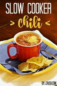 Slow Cooker Chili Recipe you'll lo - 300 Healthy Dinner Recipes - RecipePin.com