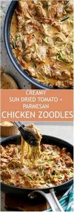 Creamy Sun dried Tomato + Parmesan - 300 Healthy Dinner Recipes - RecipePin.com