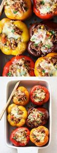 My favorite Stuffed Bell Peppers R - 300 Healthy Dinner Recipes - RecipePin.com