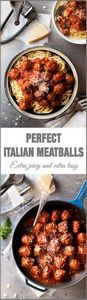 Classic Italian Meatballs - 2 litt - 300 Healthy Dinner Recipes - RecipePin.com