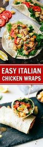 10-Minute Italian Chicken Wraps - 300 Healthy Dinner Recipes - RecipePin.com