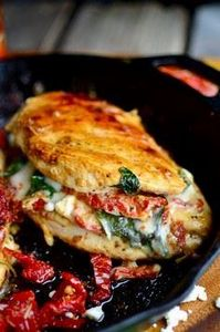 Sundried Tomato, Spinach, and Chee - 300 Healthy Dinner Recipes - RecipePin.com